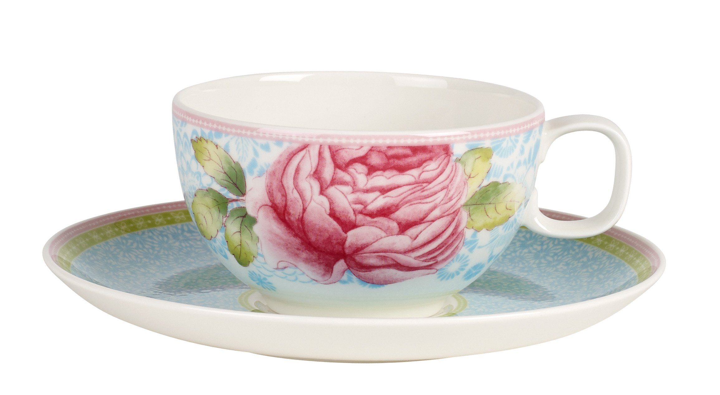 Villeroy & Boch Teetasse blau »Rose Cottage«